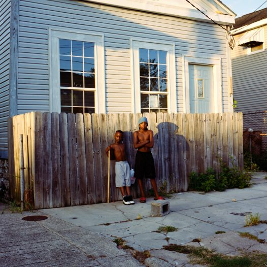 Boys In front of their houses in Treme. Money and his brother