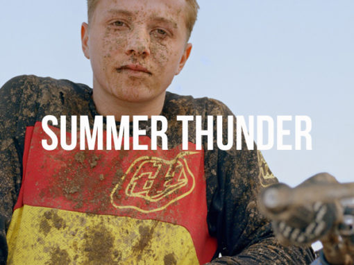 in frame documentary photography photographer dirt bike biker race car summer thunder massachussets usa youth youngs kalel koven inframe interview analog medium format film camera 6x7 mamiya tracks